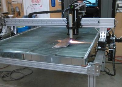 Warrens Dream Car's Fab-Cut CNC plasma cutting table