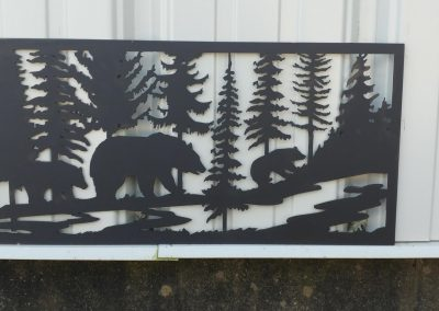 Wildlife plasma cut sign