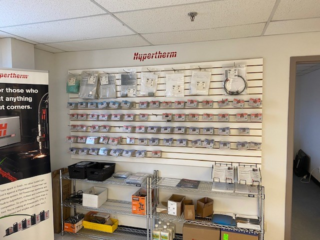 Hypertherm Products on display in our office.